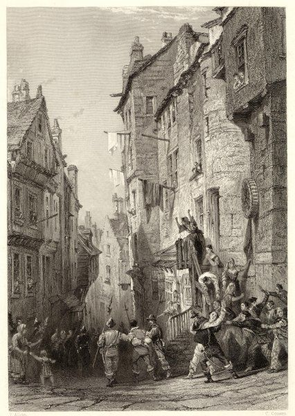 The arrest of the condemned convenanters at West Bow in Edinburgh