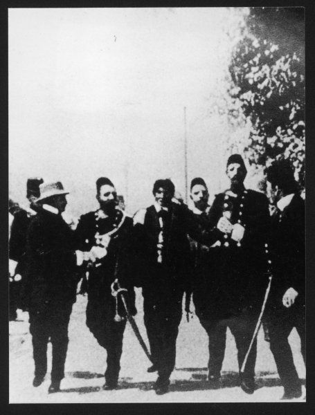 Arrest of Gavrilo Princip, the Serbian nationalist who assassinated Archduke Franz Ferdinand and his wife in Sarajevo