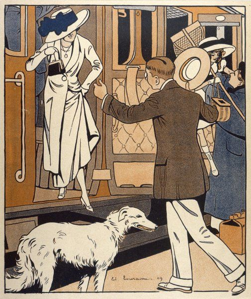 A lady is welcomed as she arrives at a station