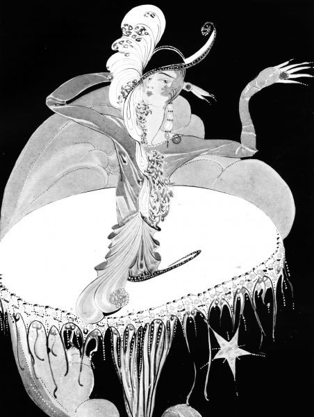 Art deco illustration entitled Star. Artwork by Gladys Spencer Curling Date: 1928