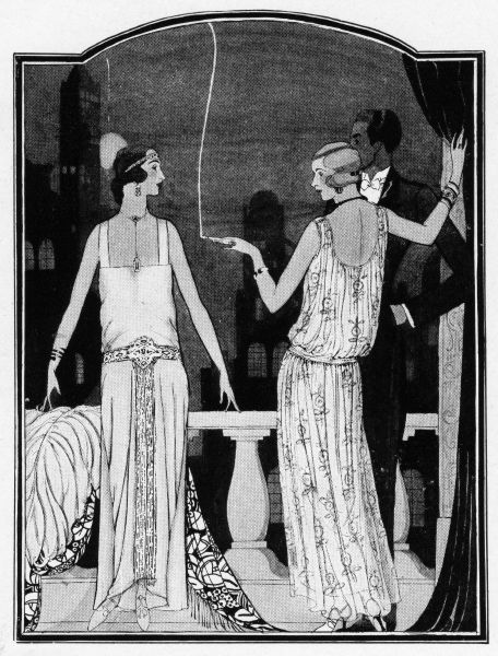 Art deco illustration of summer fashions 1923 Date: 1923