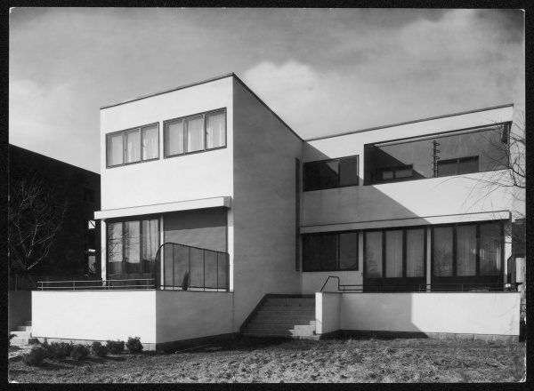 A detached town house, in the modern 'Art Deco' style