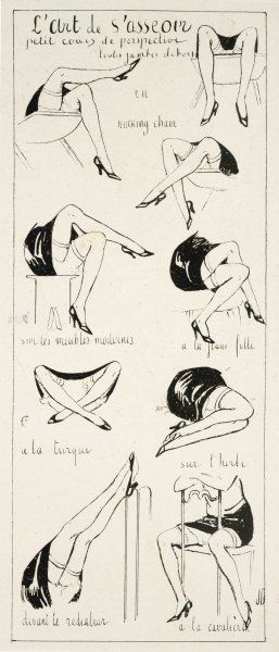 THE ART OF SITTING (for a girl of the '20s) Date: 1928