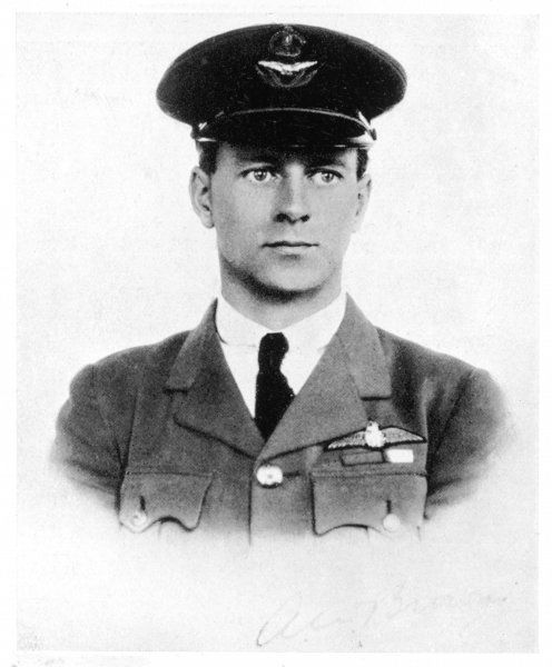 Lieutenant in the Royal Air Force, he was the navigator of the first direct transatlantic flight in June 1919 piloted by Captain John Alcock