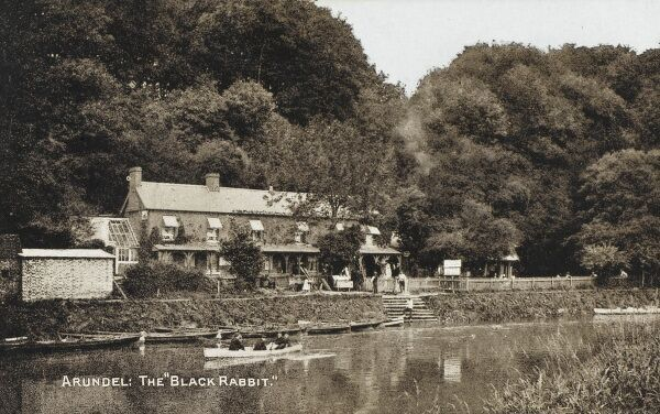 The Black Rabbit, Offham, West Sussex (near Arundel). A public house on the banks of the River Arun, still going strong today (2009)