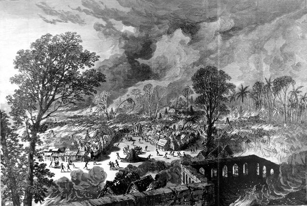 In 1873, after decades of an uneasy relationship between the British and the Acing people of central Ghana, the British attacked and virtually destroyed the Asanti capital of Kumasi, and officially declared Ghana a crown colony on 24 July 1874