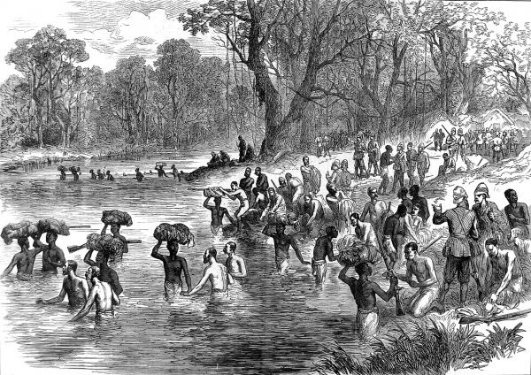 The return of the British and native troops from their expedition to Kumasi
