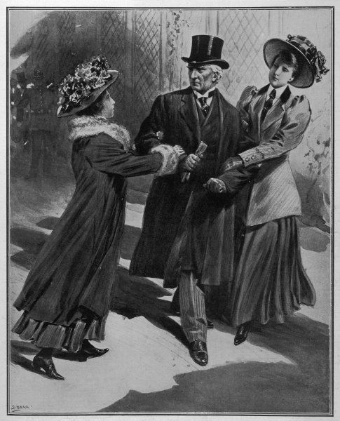 Jessie Kenney & Vera Wentworth 'Ambush & Capture' Asquith and ask him if he intends to give the vote to women