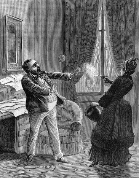 Leon Gambetta assassinated in his home by a Sister of the Free-Masons