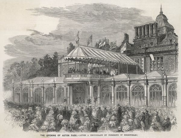 Aston park opened by Queen Victoria