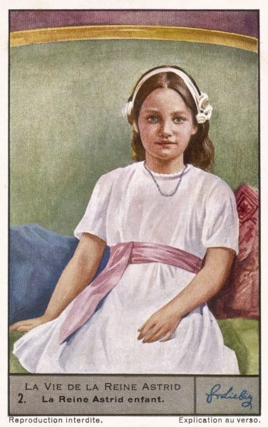 Astrid, later queen of the Belgians, as a child