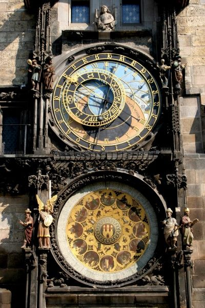 Astronomical Clock and Calendar, the Prague Orloj, in the Old Town Square, Prague, Czech Republic