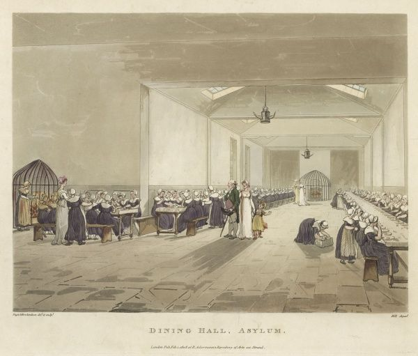 The dining room of the Asylum, or House of Refuge, at Lambeth, for the reception of friendless and deserted girls