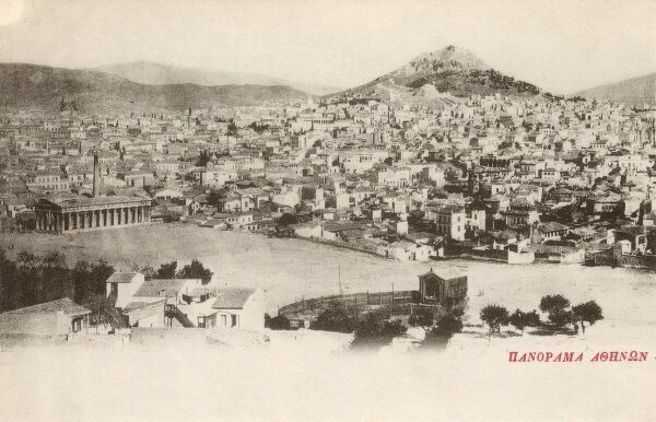 Athens, Greece - Panorama of the city Date: circa 1900