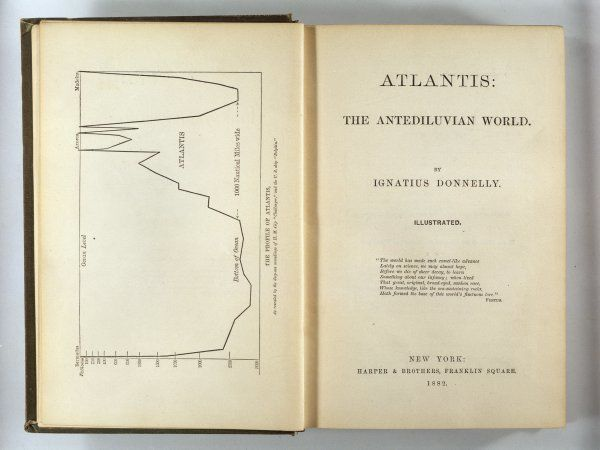 Ignatius Donnelly's landmark book on Atlantis ; the title page of the first edition