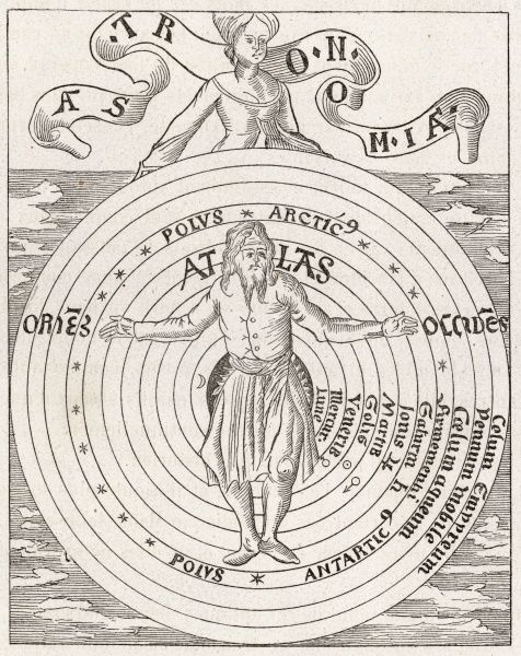 Atlas and the eleven spheres of the heavens