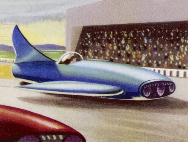 MOTOR RACING WITH ATOM-POWERED VEHICLES
