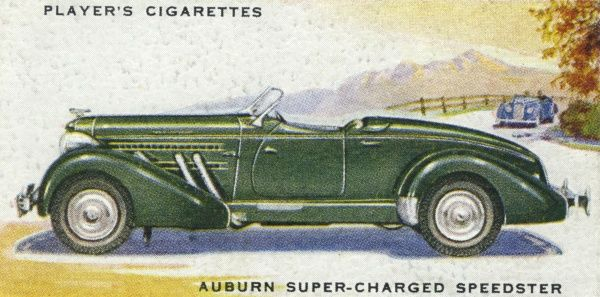 Auburn Speedster, super-charged for ordinary road work, 'the acceleration is terrific'. Date: 1937