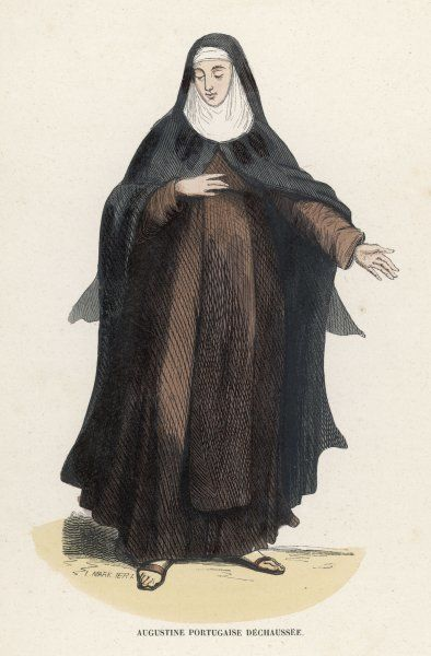 DISCALCED NUN OF SAINT AUGUSTINE Portugal (nominally barefoot)
