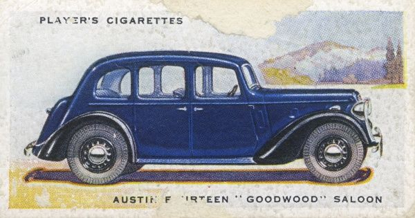By naming the Austin Fourteen 'Goodwood' they probably hope to give it a sporty image, but this remains a sedately conservative family model. Date: 1937
