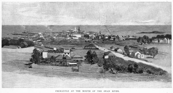 General view of the town at the mouth of the Swan River