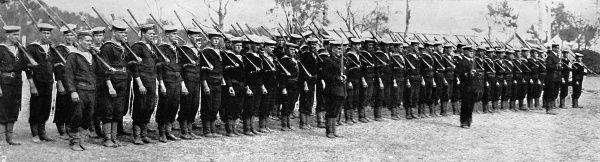 Australian bluejakets belonging to the Commonwealth Squadron who captured German New Guinea