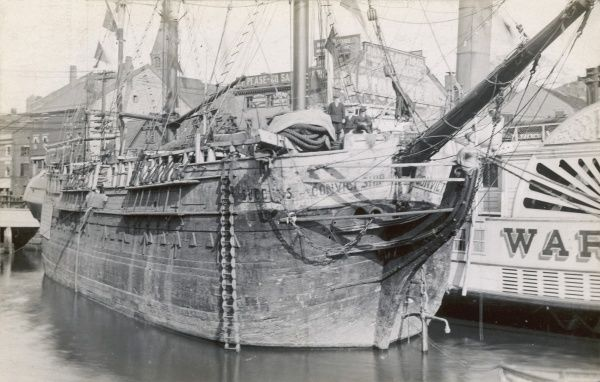 The Australian Convict Ship, Success, moored in Providence, Rhode Island, America
