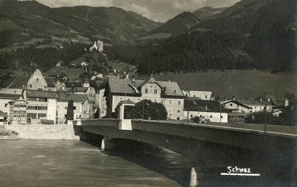 Schwaz, Austria - an important silver mining centre during the Middle Ages, providing vast wealth for the Fugger banking family and the Austrian emperors. At one stage being the second largest city in the Austrian Empire. Date: circa 1930s
