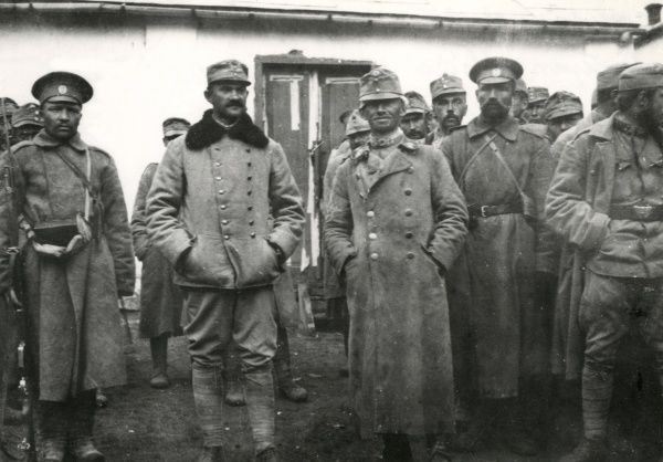 Austrian officers captured by the Russians during the First World War. Date: 26 August 1915