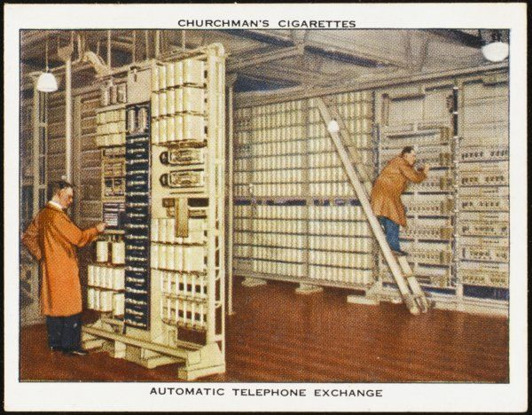Automatic telephone exchange of the British Post Office, which at that time managed the telephone network