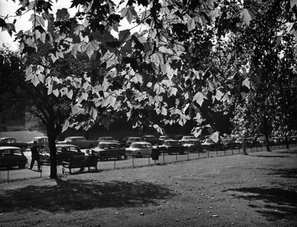 An early Autumn scene in Hyde Park, central London. Date: 1960s