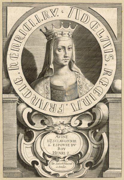 AVINE DE SCLAVONIE, second queen of Henri I, king of France