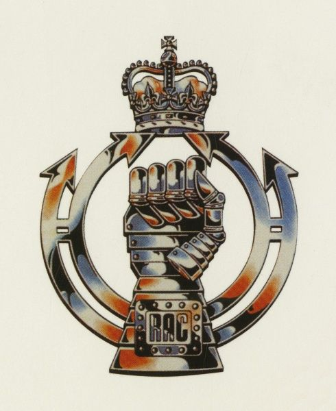 Badge of the Royal Armoured Corps. Painting by Malcolm Greensmith