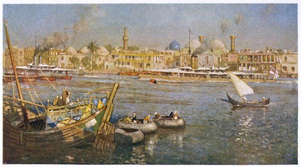 Baghdad: view of the river