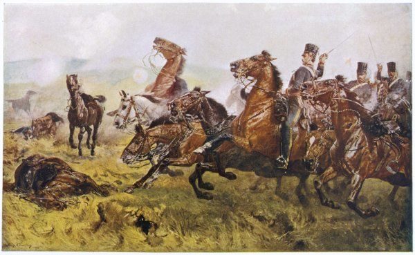 The Charge of the Light Brigade - Lord George Paget heads the 4th Light Dragoons
