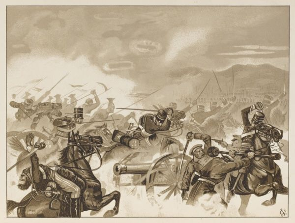 The Charge of the Light Brigade - the first line reaches the Russian guns