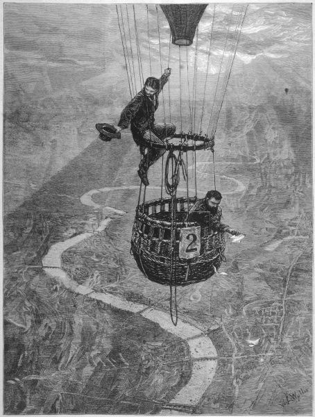 Airborne over central London - participants in the contest held by the Balloon Society of Great Britain