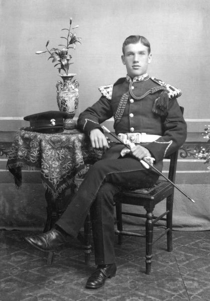 Bandsman of the Royal Inniskilling Fusiliers, serving in China 1910 circa 1910