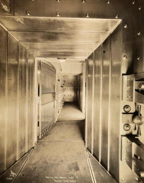 Herring-Hall Marvin Safe Co., Bankers Trust, Vaults. Opened vault at the Bankers Trust Co