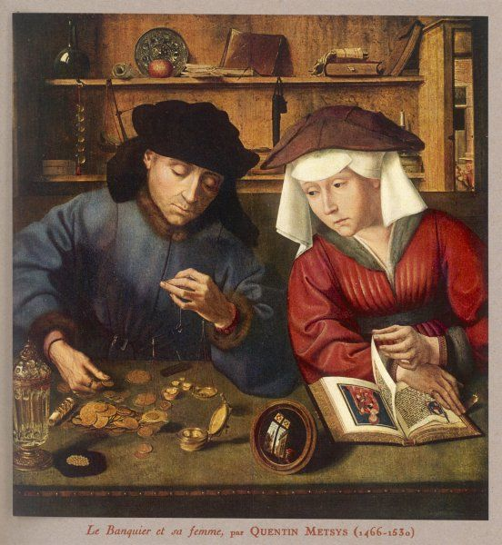 A banker of the 15/16th century, with his wife