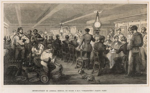 Entertainment to Admiral Dundas, on board H.M.S Wellington of the Baltic Fleet