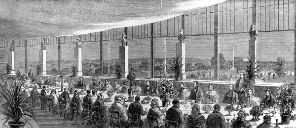 Banquet given by Sir Joseph and Lady Paxton in Crystal Palace, London