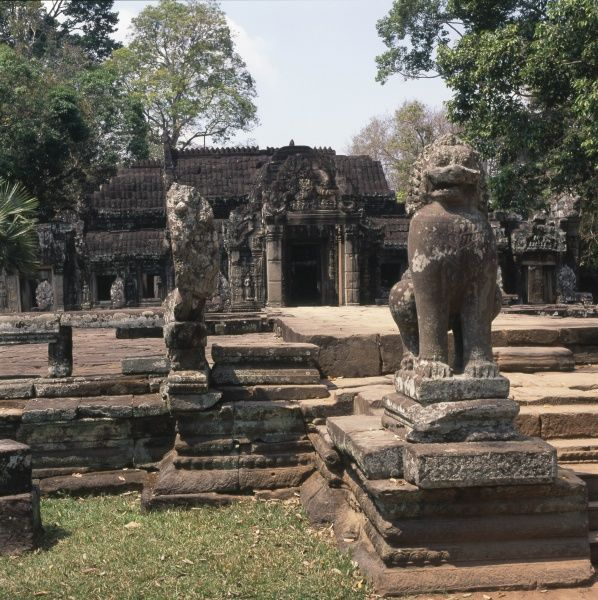 Entrance to the Buddhist temple of Banteay Kdei at Angkor, Siem Reap, Cambodia. It was built in the late 12th to early 13th centuries, in the Bayon style