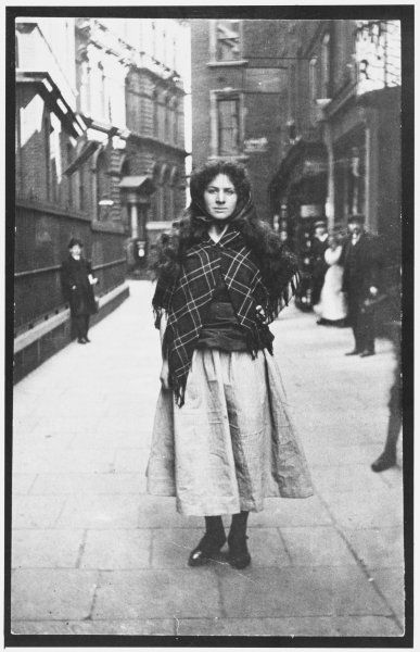 BARBARA AYRTON GOULD Suffragette. WSPU organiser & founder of the United Suffragists. MP for North Hendon 1945 - 50. Shown here dressed as a mill girl