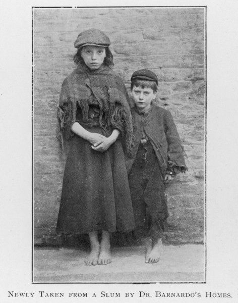 'Barnardo children' - rescued from the streets and cared for in Dr Barnardo's homes
