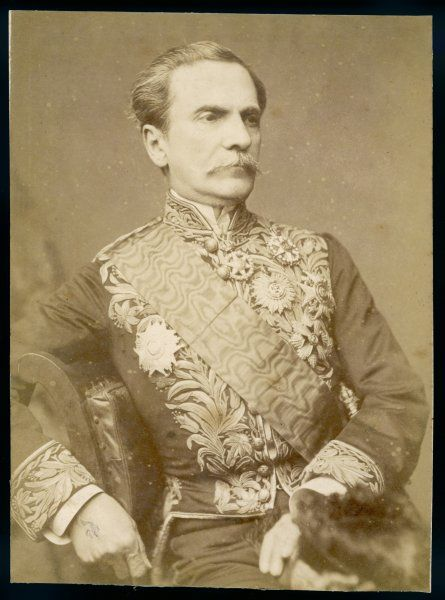 Baron de PENEDO Brazilian statesman, minister to Britain circa 1880, photographed in his diplomatic gear