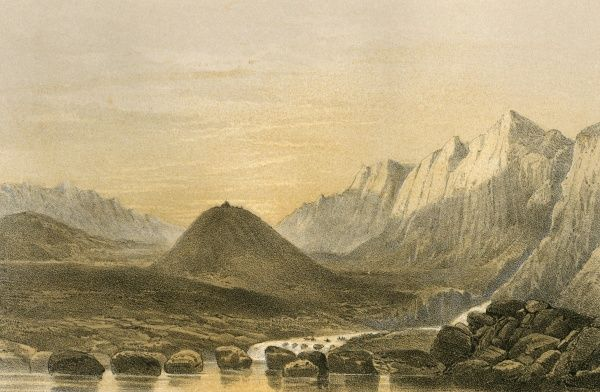 Large barrow in the valley of Tarbogatzi, Chinese Tartary. Date: 1858