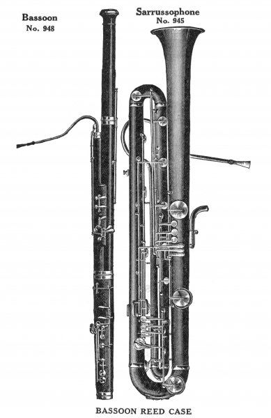 Bassoon and Sarussophone from the Wurlitzer catalogue