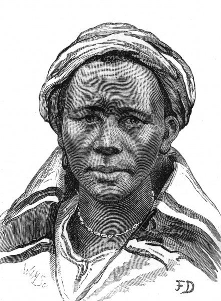 One of the wives of Masupha, the Basuto chief, who rebelled again British rule in Basutoland in South Africa. Date: 1880