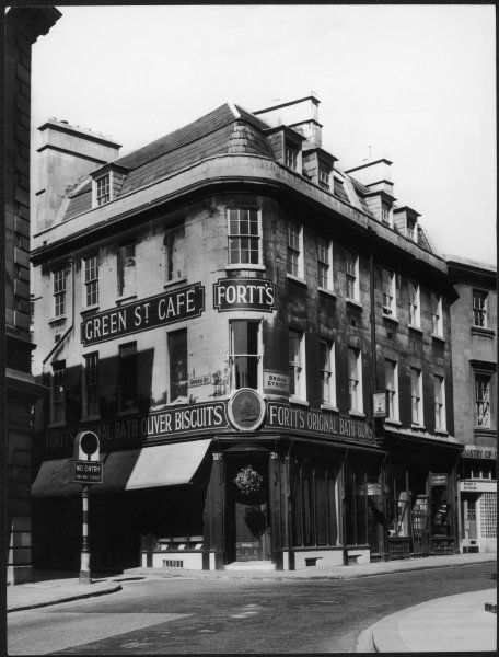 Fortt's Original Bath Buns shop, also famous for its Oliver Biscuits and incorporating the Green St. Cafe, Bath, Somerset